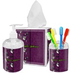 Witches On Halloween Acrylic Bathroom Accessories Set w/ Name or Text