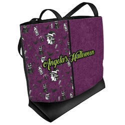 Witches On Halloween Beach Tote Bag (Personalized)