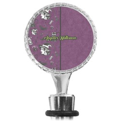 Witches On Halloween Wine Bottle Stopper (Personalized)