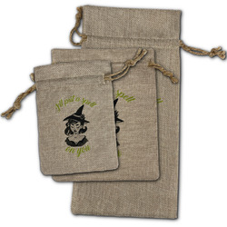 Witches On Halloween Burlap Gift Bags (Personalized)