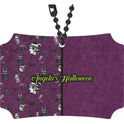 Witches On Halloween Rear View Mirror Ornament (Personalized)
