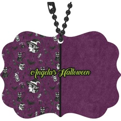 Witches On Halloween Rear View Mirror Decor (Personalized)