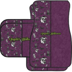Witches On Halloween Car Floor Mats Set - 2 Front & 2 Back (Personalized)