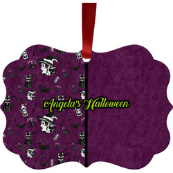 Witches On Halloween Ornament (Personalized)