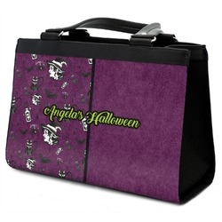 Witches On Halloween Classic Tote Purse w/ Leather Trim (Personalized)