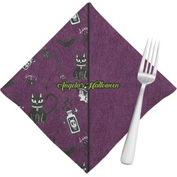 Witches On Halloween Cloth Napkins (Set of 4) (Personalized)