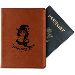 Witches On Halloween Leatherette Passport Holder (Personalized)