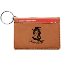 Witches On Halloween Leatherette Keychain ID Holder (Personalized)