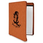 Witches On Halloween Leatherette Zipper Portfolio with Notepad (Personalized)