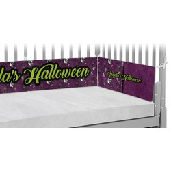 Witches On Halloween Crib Bumper Pads (Personalized)