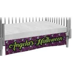 Witches On Halloween Crib Skirt (Personalized)