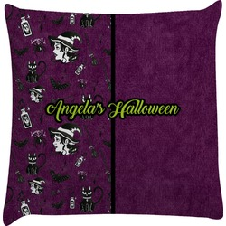 Witches On Halloween Decorative Pillow Case (Personalized)