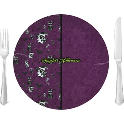 """Witches On Halloween 10"""" Glass Lunch / Dinner Plates - Single or Set (Personalized)"""