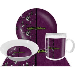 Witches On Halloween Dinner Set - 4 Pc (Personalized)