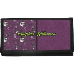 Witches On Halloween Canvas Checkbook Cover (Personalized)