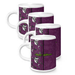 Witches On Halloween Espresso Mugs - Set of 4 (Personalized)