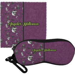Witches On Halloween Eyeglass Case & Cloth (Personalized)