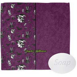 Witches On Halloween Wash Cloth (Personalized)