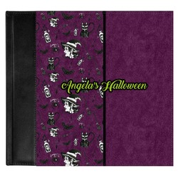 Witches On Halloween Genuine Leather Baby Memory Book (Personalized)