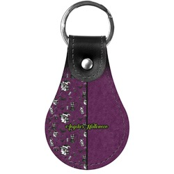 Witches On Halloween Genuine Leather  Keychains (Personalized)