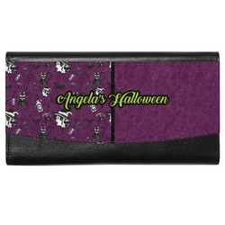 Witches On Halloween Genuine Leather Ladies Wallet (Personalized)