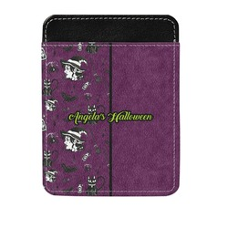Witches On Halloween Genuine Leather Money Clip (Personalized)