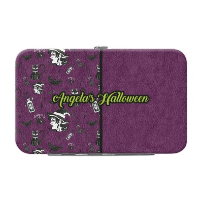 Witches On Halloween Genuine Leather Small Framed Wallet (Personalized)
