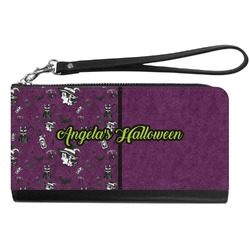 Witches On Halloween Genuine Leather Smartphone Wrist Wallet (Personalized)