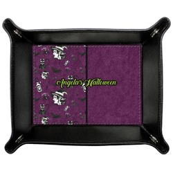 Witches On Halloween Genuine Leather Valet Tray (Personalized)
