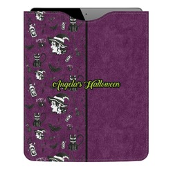 Witches On Halloween Genuine Leather iPad Sleeve (Personalized)