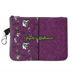 Witches On Halloween Zip ID Case (Personalized)