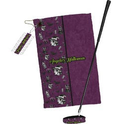 Witches On Halloween Golf Towel Gift Set (Personalized)