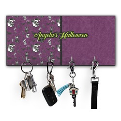Witches On Halloween Key Hanger w/ 4 Hooks (Personalized)