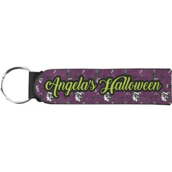 Witches On Halloween Neoprene Keychain Fob (Personalized)