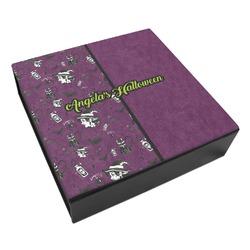 Witches On Halloween Leatherette Keepsake Box - 3 Sizes (Personalized)