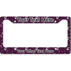 Witches On Halloween License Plate Frame (Personalized)