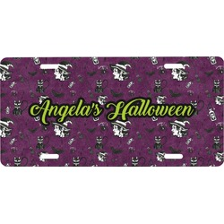 Witches On Halloween Front License Plate (Personalized)
