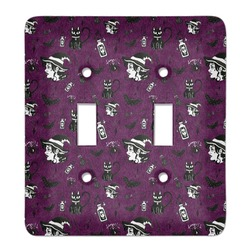 Witches On Halloween Light Switch Cover (2 Toggle Plate) (Personalized)