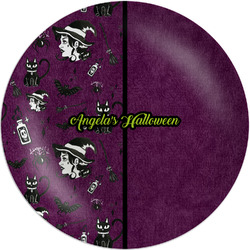 "Witches On Halloween Melamine Plate - 8"" (Personalized)"