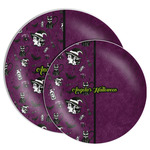 Witches On Halloween Melamine Plate (Personalized)