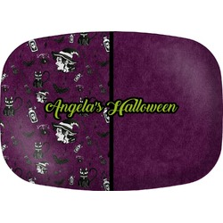 Witches On Halloween Melamine Platter (Personalized)