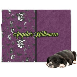 Witches On Halloween Minky Dog Blanket (Personalized)