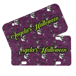 Witches On Halloween Mini/Bicycle License Plates (Personalized)