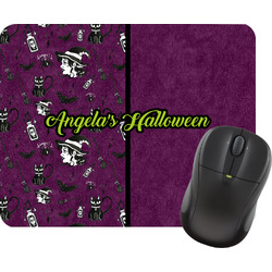 Witches On Halloween Rectangular Mouse Pad (Personalized)
