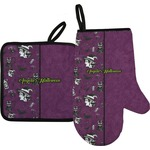 Witches On Halloween Oven Mitt & Pot Holder (Personalized)