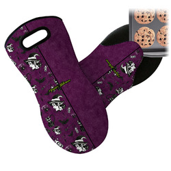Witches On Halloween Neoprene Oven Mitt (Personalized)