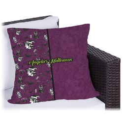 Witches On Halloween Outdoor Pillow (Personalized)