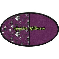 Witches On Halloween Oval Trailer Hitch Cover (Personalized)