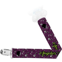 Witches On Halloween Pacifier Clips (Personalized)