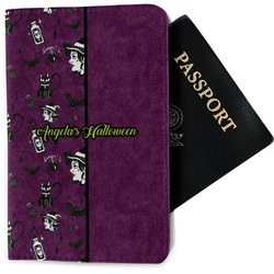 Witches On Halloween Passport Holder - Fabric (Personalized)